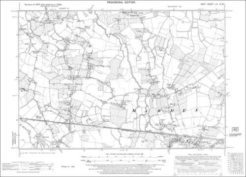 Chainhurst OS Kent 52-SW-1938 Marden Collier Street