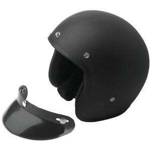 Casco-MOTO-Negro-MATE-BANDIT-Jet-Open-face-Helmet-Custom-NO-HOMOLOGADO