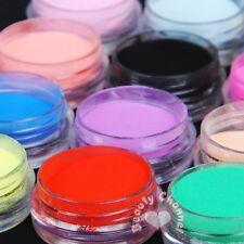 12 Colors Acrylic Nail Art Tips UV Gel Powder for Liquid 3D Decoration Manicure