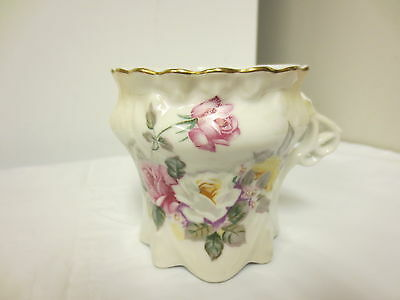 Older Crown R S Prussia Shaving Mug or Cup-Pink & White Roses Motif-AS IS