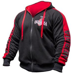 6157748ca82d20 Mr Olympia Bodybuilding Hoodie Men s New Black Long Sleeve ...