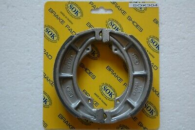Rear Grooved Brake Shoes For Suzuki TS 185 80-81