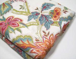 Pottery-Barn-Multi-Colors-Cotton-Linen-Pria-Palampore-Full-Queen-Duvet-Cover-New