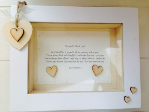 Shabby Personalised Chic Box Frame Special Gift Best Friend Friendship Any Names