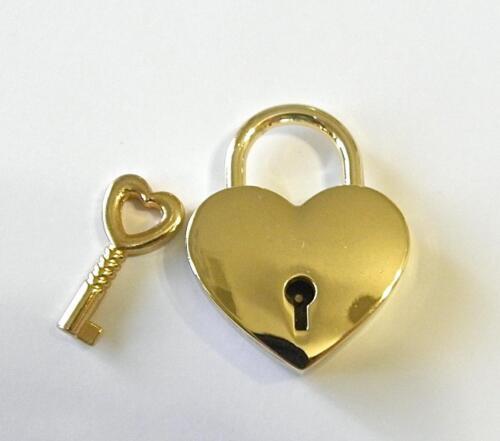 RL NEW HIGH END HANDBAG BAG REPLACEMENT LOCK /& KEY HEART CHARM GOLD TONED MK