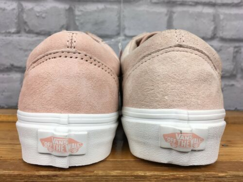 3a051d98195 7 von 10 Vans Ladies Old Skool Premium Suede Pale Pink Summer Trainers  Various Sizes