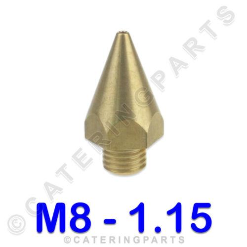 Universel Filetage M8x1 diamètre 1.15 mm conique brûleur à gaz injecteur Brass Nozzle