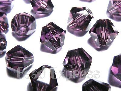 20Pc 6mm Fine Austrian Amethyst Purple 5301 Bicone Beads AU605B