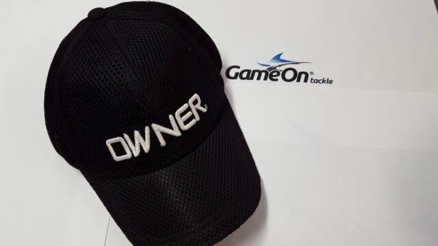 New Fishing OWNER Black Mesh Cap