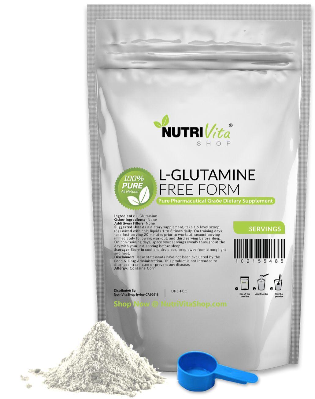 5.5lb (2500g) NEW FORM 100% L-GLUTAMINE FREE FORM NEW PHARMACEUTICAL GRADE 4f64b4