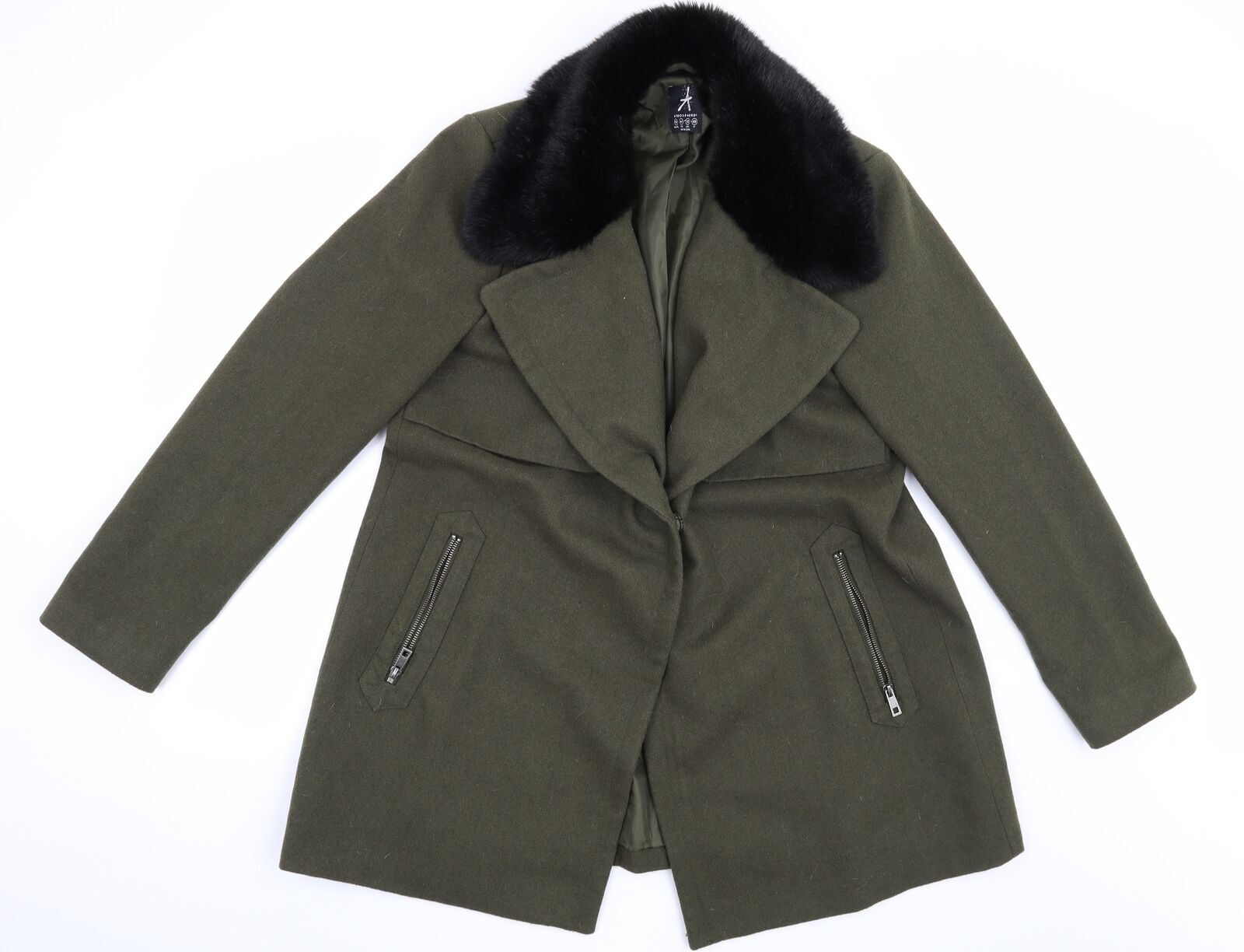 Atmosphere Womens Green Pea Coat Size 16