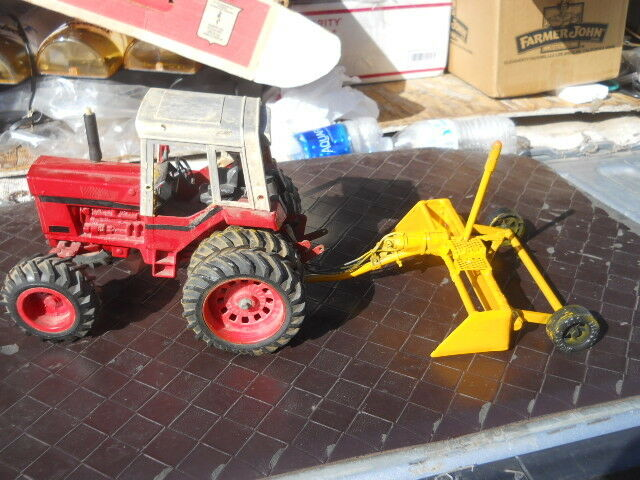 compra en línea hoy Vintage Ertl IH Internacional Granja Tractor de Juguete Juguete Juguete personalizado hecho Lazer Nivelador De Tierra  bienvenido a comprar