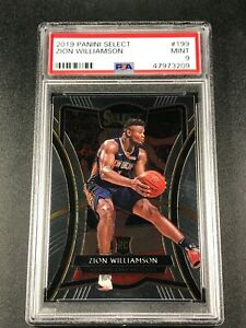 ZION-WILLIAMSON-2019-PANINI-SELECT-199-ROOKIE-RC-PSA-9-NEW-ORLEANS-PELICANS-NBA