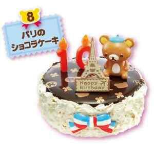 Image Is Loading Re Ment Rilakkuma Bear Mini Happy Birthday Cake