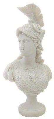 "13.5"" Bust Greek Warrior Athena Goddess of War & Wisdom Arts Figure Statue Roman"