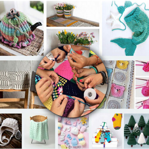 100Pcs//Set Aluminum Crochet Hooks Yarn Knitting Needles Set Kit with Case Tool