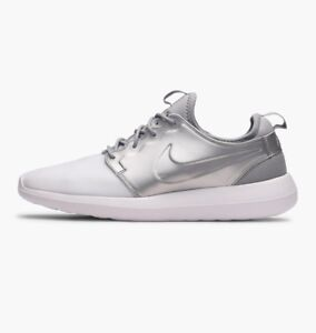 Nike-Roshe-Two-Size-9-Men-039-s-Trainers-White-Silver-Running-Shoes