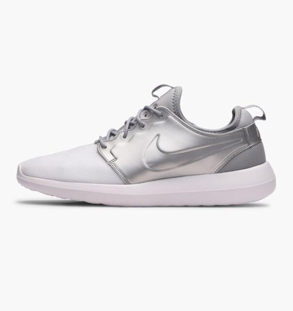 Nike Roshe Two 2 Rosherun Metallic Silver Men Running Shoes SNEAKERS ... 8884a17e9f