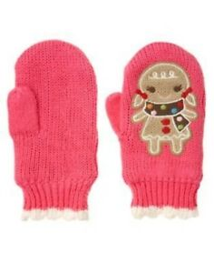 GYMBOREE WINTER CHEER PINK GINGERBREAD GIRL SWEATER MITTENS 0 12 2T 3T 4T 5T