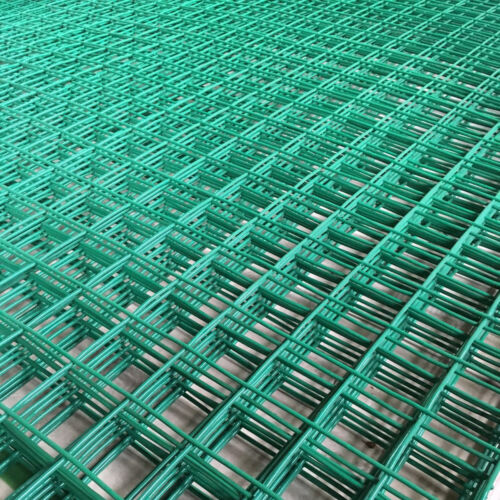 """6FT x 3FT Green PVC Coated Wire Mesh Panels Sheet 1/""""//2/"""" Square Holes Fence Pet"""