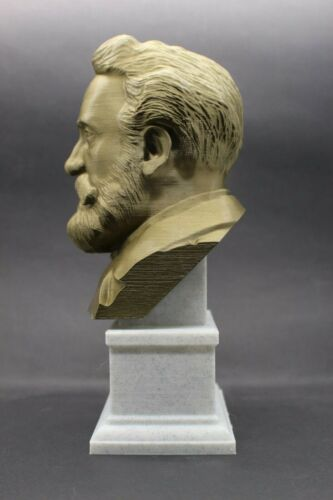 Jules Verne 3D Printed Bust Famous French Novelist and Poet Art FREE SHIP