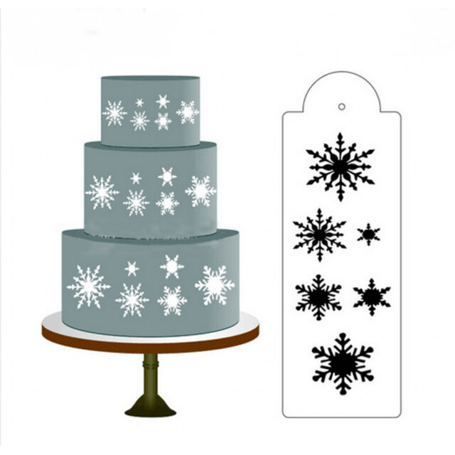 Snow Flower Cake Stencil Fondant Designer Decorating Craft Cookie Baking Tool MO