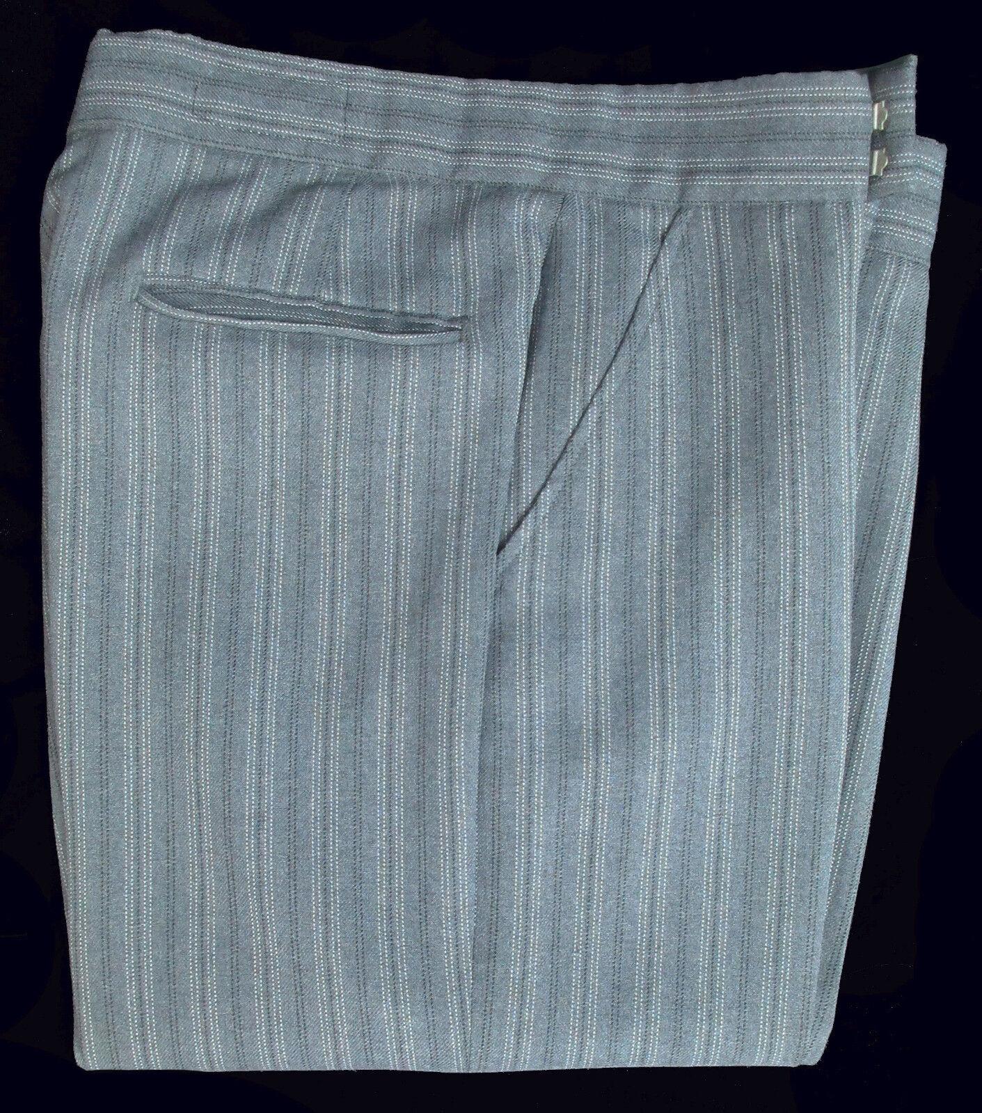 Men/'s Raffinati Grey /& Black Hickory Striped Trousers Pants Morning Dress