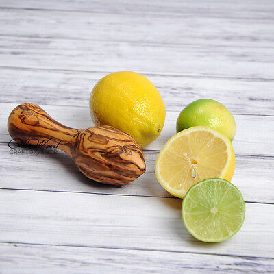 Olive wood citrus reamer,Free expedited shipping,US seller
