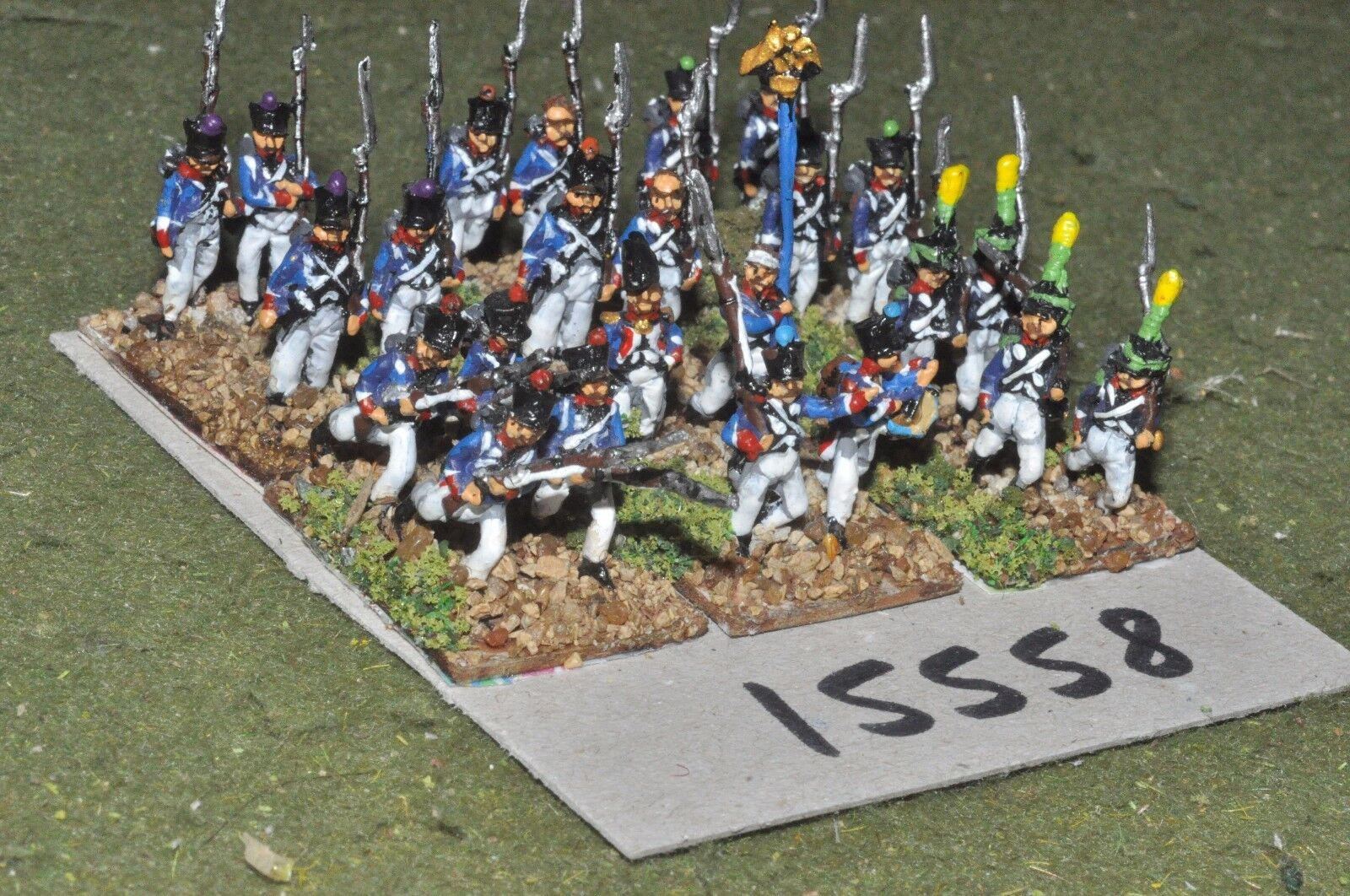 15mm napoleonic   french - infantry 24 figs - inf (15558)