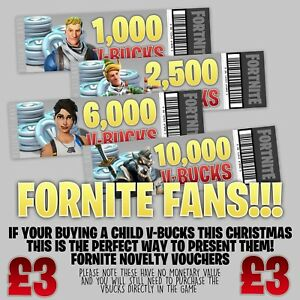 Fortnite V Bucks Xbox Ps4 Gift Voucher Ebay