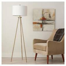 Oak Wood Tripod Floor Lamp Includes Cfl Bulb Threshold