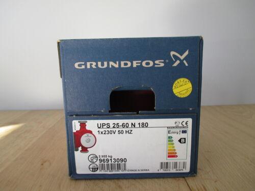 POMPA GRUNDFOS UPS 25-60 N 180 riscaldamento pompa pompa di circolazione KOST-ex p15//3