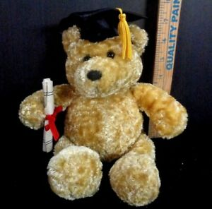 Graduation-Tan-Talking-Bear-Diploma-Hat-Dandee-Plush-Stuffed-3-Different-Phrases