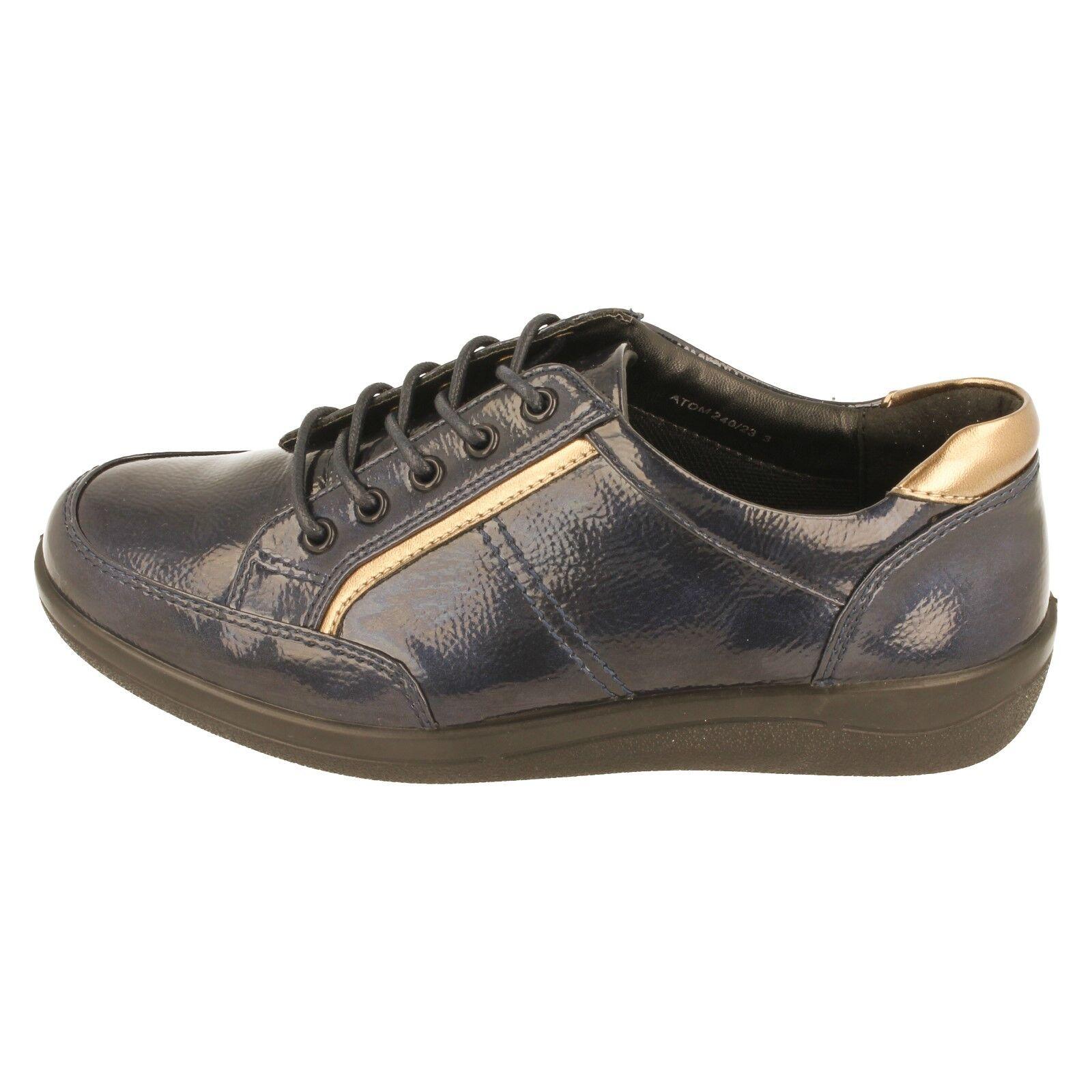 Damen Padders Schnürer Schuhe mit weiter Passform Passform Passform Schuhe - Atom 197188