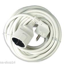 (1,30€/m) 10 Meter Verlängerungskabel PVC Stromkabel 3x 1,50 mm²  weiß Schuko