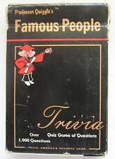 1984 Trivia Card Game Professor Quizzle's Famous People Quiz 1,000 Questions