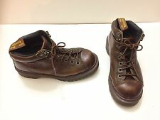 Doc Martens Brown Leather Boots Air Wair with Bouncing Soles Hiking Women Size 9