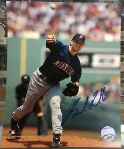 Brad-Radke-Autographed-8x10-Photo-Minnesota-Twins-Blue-Jersey-In-Person-Signing