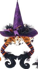 raz imports halloween decor 23 hanging witch hat with legs purple