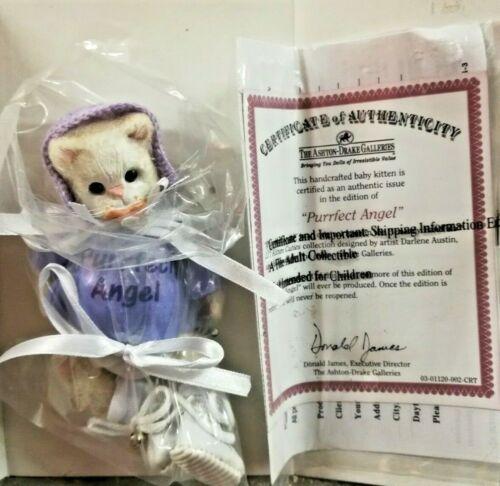Ashton Drake Purrfect Angel Baby Kitten Doll Figure Rare Genuine w/ Certificate