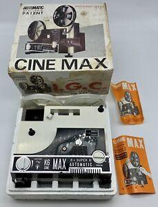 Proiettore Cine Max Automatic 8+ Super 8 Patent Panoramic Zoom Con Scatola