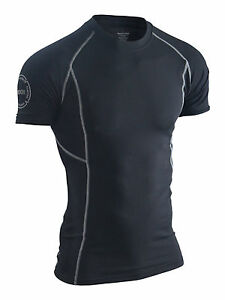 Men-039-s-Compression-Tee-Rashguard-Compression-Shirt-Gym-Fitness-Fight-Sports