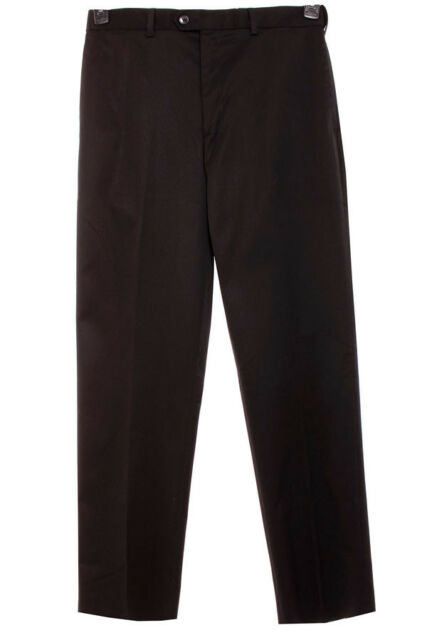 NEW Perry Ellis Men's Portfolio Flex Waistband Twill  Dress Pants Black 32X30