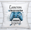 Personalised Gamer Game Cushion Red or Gold Console PS Station Blue X