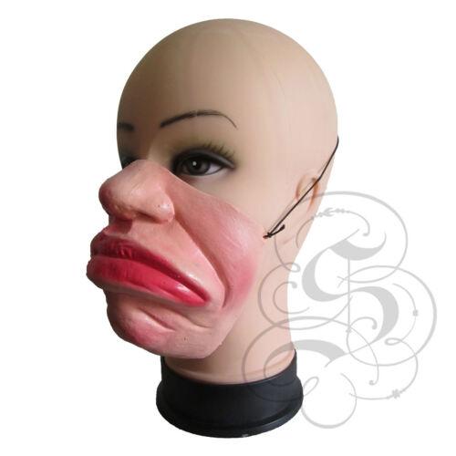 MEZZA faccia Comedy Funny People BRONTOLO ANGRY FACE Stag BIG Labbro maschere fantasia lattice