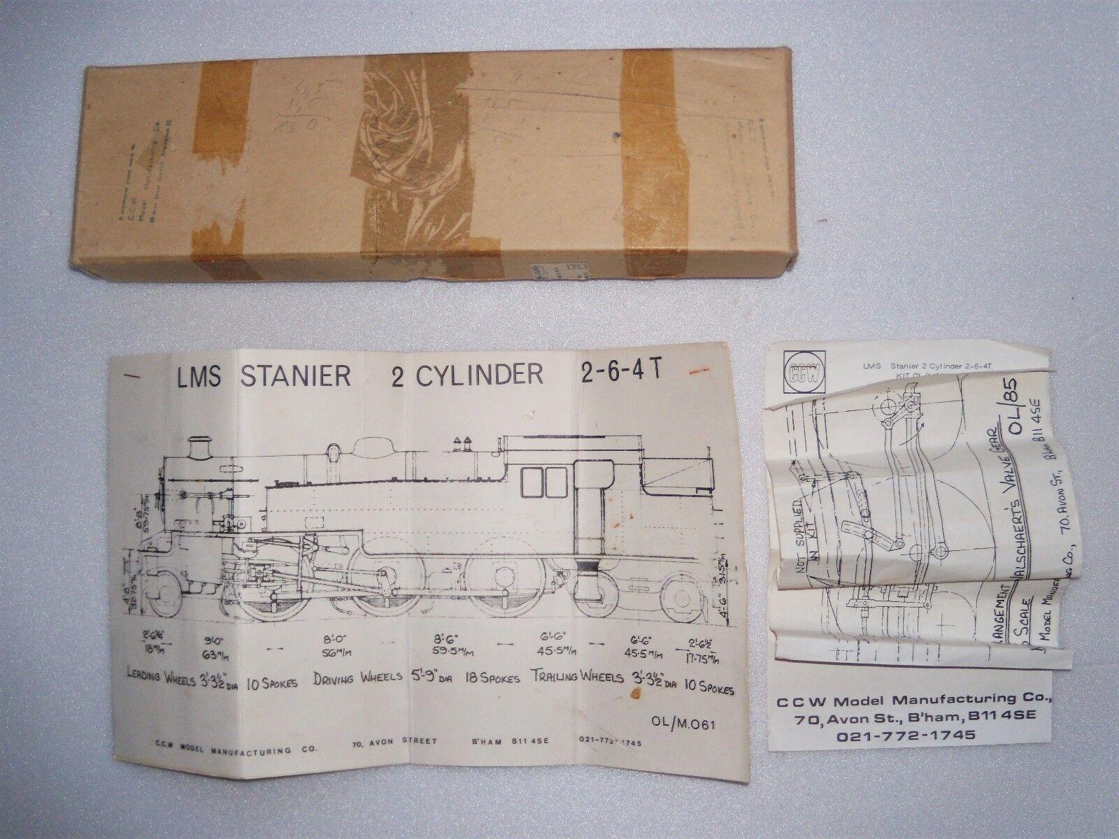 últimos estilos Locomotive à vapeur LMS LMS LMS Stanier 2-6-4 Tank CCW Model échelle O (model 7 mm )  Más asequible