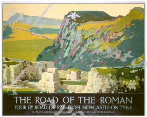 Vintage LNER Hadrians Wall Railway Poster A4//A3//A2//A1 Print