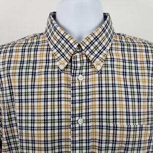 Jos-A-Bank-1905-Mens-Blue-Yellow-Green-Check-Plaid-L-S-Dress-Button-Shirt-Sz-L