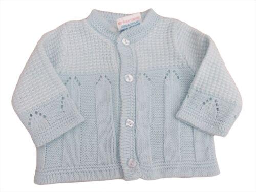 BNWT Tiny prématuré Preemie Baby garçons Bleu Cardigan 3-5 Lb 5-8 LB