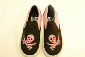 491bb1be85327 Details about T.U.K. Slip On Pink Pirate Kids Shoes Kids Size UK9/EU27  (EBAY1098)